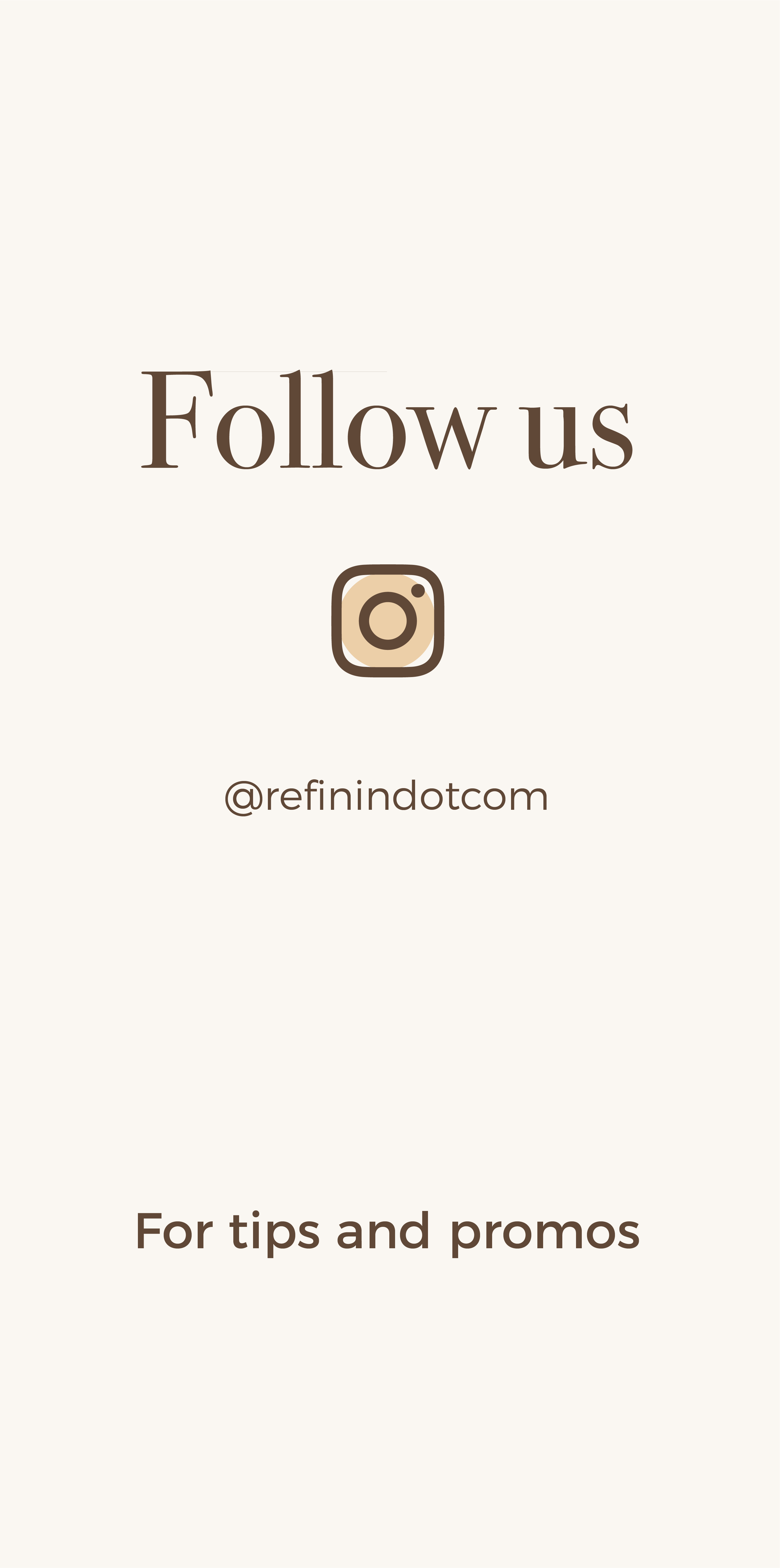 Follow @refinindot.com on instagram
